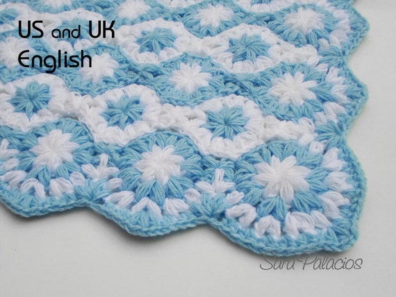Crochet Baby Blanket Pattern Stars On The Sea Etsy