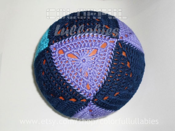 Crochet Triangle And Square Ball Pattern Cuboctahedron Ball Etsy