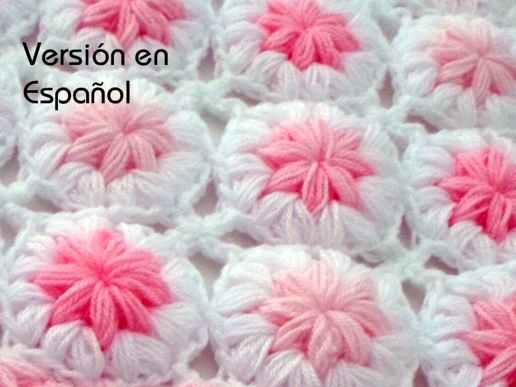 Patrón de Crochet de Manta de bebé Flores en las | Etsy