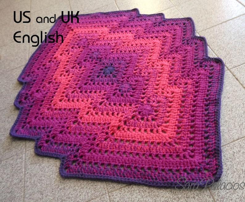 Crochet Bargello Rug Crochet Pattern. Bargello rug pattern. image 0