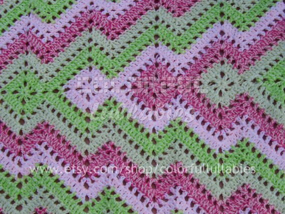 Crochet Square And Ripple Blanket Pattern Crochet Baby Etsy