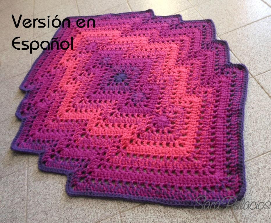 Patrón de Crochet de Alfombra Bargello. Alfombra de ganchillo.   Etsy