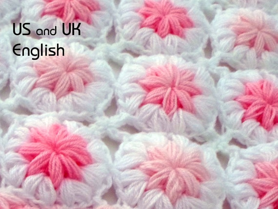 Crochet Baby Blanket Pattern Flowers In The Etsy