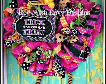 Halloween Wreath, Halloween Wreath, Halloween Decoration, Witch Wreath, Witches, Witches Decoration, Witch Decor