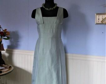 Akris dress,blue silk shantung Evening/Wedding/Sp occasion,size 6