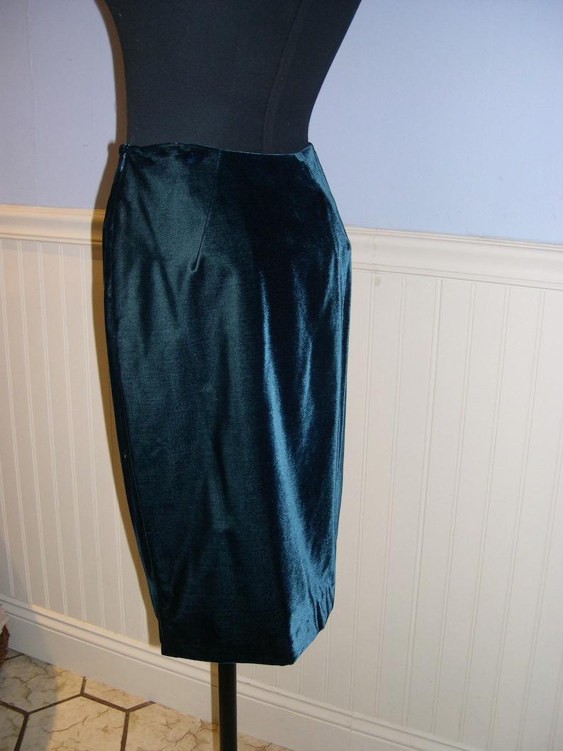 Richard Tyler suit size 4 silvery blue silkwool jacket /&tealvelvet skirt