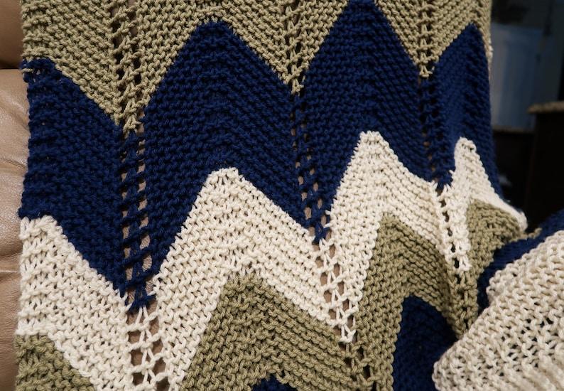 Afghan Sofa Throw Blanket Chevron Approx 38X62