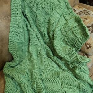 40X60 Afghan Sofa Throw Blanket Chunky Pink Approx