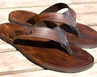 Handmade Leather Flip Flops Sandals -