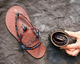 Barefoot Flexible Leather Sandals - Harmony