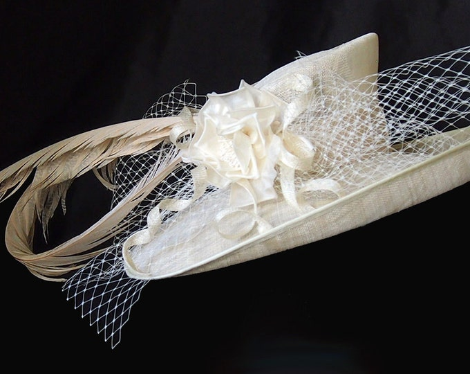 Featured listing image: Ivory Derby Hat