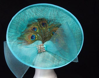 Turquoise and Peacock Hat