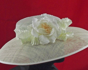 Ivory Low Crown Hat