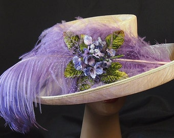 Pearl Gray and Lavender Derby