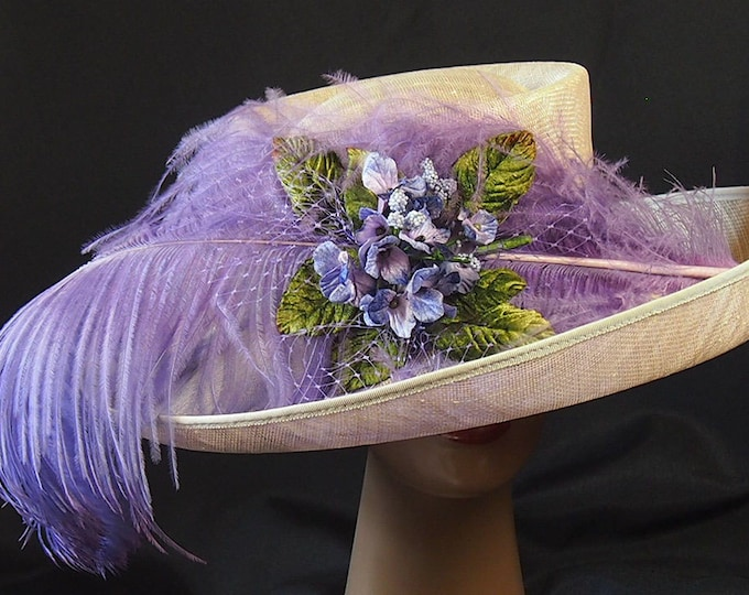 Featured listing image: Pearl Gray and Lavender Derby