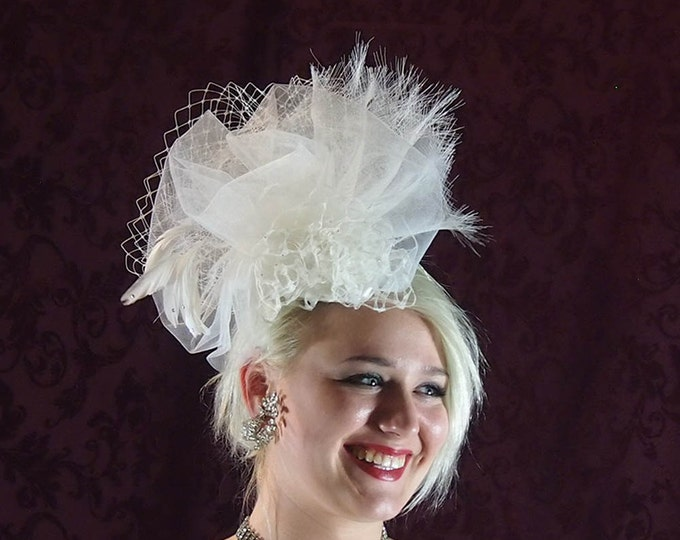 Featured listing image: Ivory Bridal Headpiece