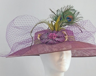 Dark Lavender Hat that is an Easy Fit