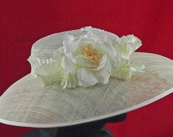 Ivory Low Crown Hat