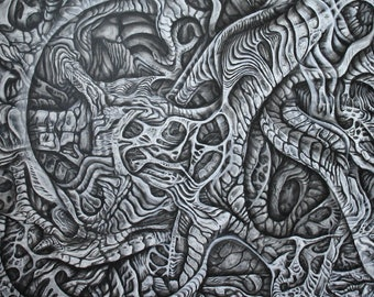 Its a Black n White Painting - Original canvas painting by Neil Gibson