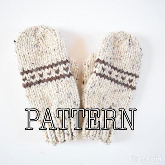 Knitting PATTERN Fair Isle Knitted Mittens Mittens Pattern | Etsy