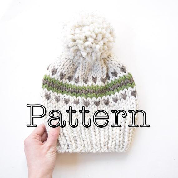 Knitting PATTERN Fair Isle Knitted Hat Knitting pattern | Etsy