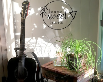 "Wall decal ""home sweet home"" with arrow, home decor, gift ideas, wall decor, vinyl decal INDOOR"