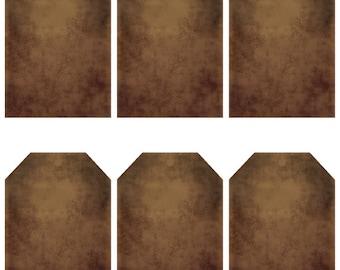 grungy tag set - blank - digital PDF & jpeg -  GT04