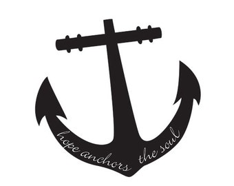 anchor - hope anchors the soul - printable PDF - black and white