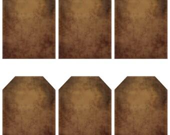 grungy tag set - blank - digital PDF & jpeg - GT08