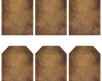grungy tag set - blank - digital PDF & jpeg - GT07