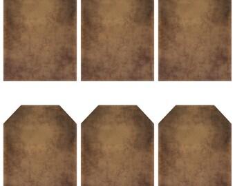 grungy tag set - blank - digital PDF & jpeg - GT06