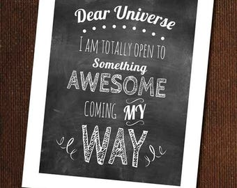 Dear Universe Design Print, graphic design, print, poster, home decor
