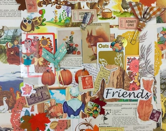 """50+ pc. """"Fall Mix""""  Ephemera Pack Includes Fall, Thanksgiving and Halloween Inspiration"""