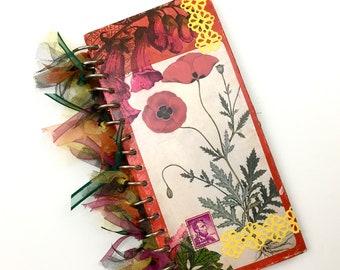 "Fully Decorated ""Poppy"" Art journal*"