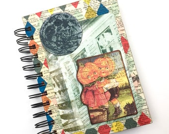 """Fully Decorated """"Happy Halloween"""" Art journal*"""