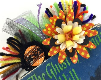 Halloween Decorative Paperclips / 5-pack / Planner Clips / Journal Decor / Flower Clips / Tulle Clips / Ribbon Clips / Tassel Clips
