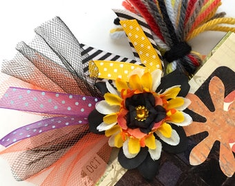 Halloween Decorative Paperclips / 4-pack / Planner Clips / Journal Decor / Flower Clips / Tulle Clips / Ribbon Clips / Tassel Clips