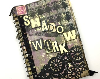 """Fully Decorated """"Shadow Work"""" Art journal*"""