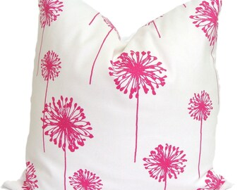 Pink Floral Pillow Etsy