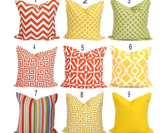 Outdoor Pillow Covers Outdoor Pillow Covers Orange Pillow Cover Yellow Outdoor Pillow Cover Green Pillow Covers All Sizes Cushion