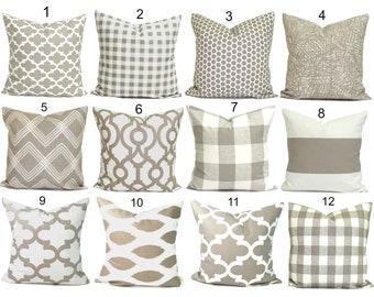 FARMHOUSE PILLOW Covers, Decorative Pillow Covers, Throw Pillow Covers, Accent  Pillow Covers, Euro Sham, Couch Pillow, Tan Pillow, Cushion