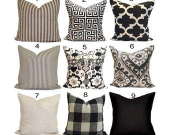 Black tan pillow   Etsy