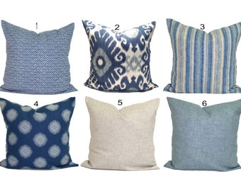 Blue Couch Pillows Etsy