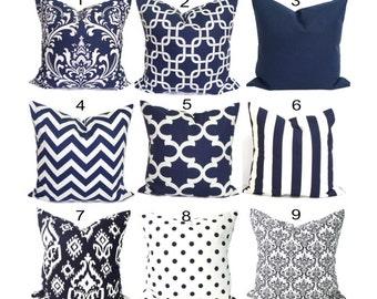 Pillow, Throw Pillow, Pillow Cover, Cushion, Decorative Pillow, Navy Blue Navy , Solid Blue, Blue Pillow.Blue Toss. All Sizes, Cushion,cm