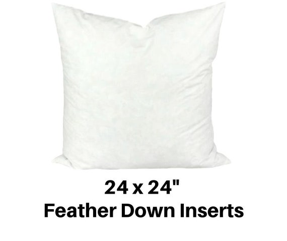 Famous Maker x 24in Feather//Down Pillow Form White