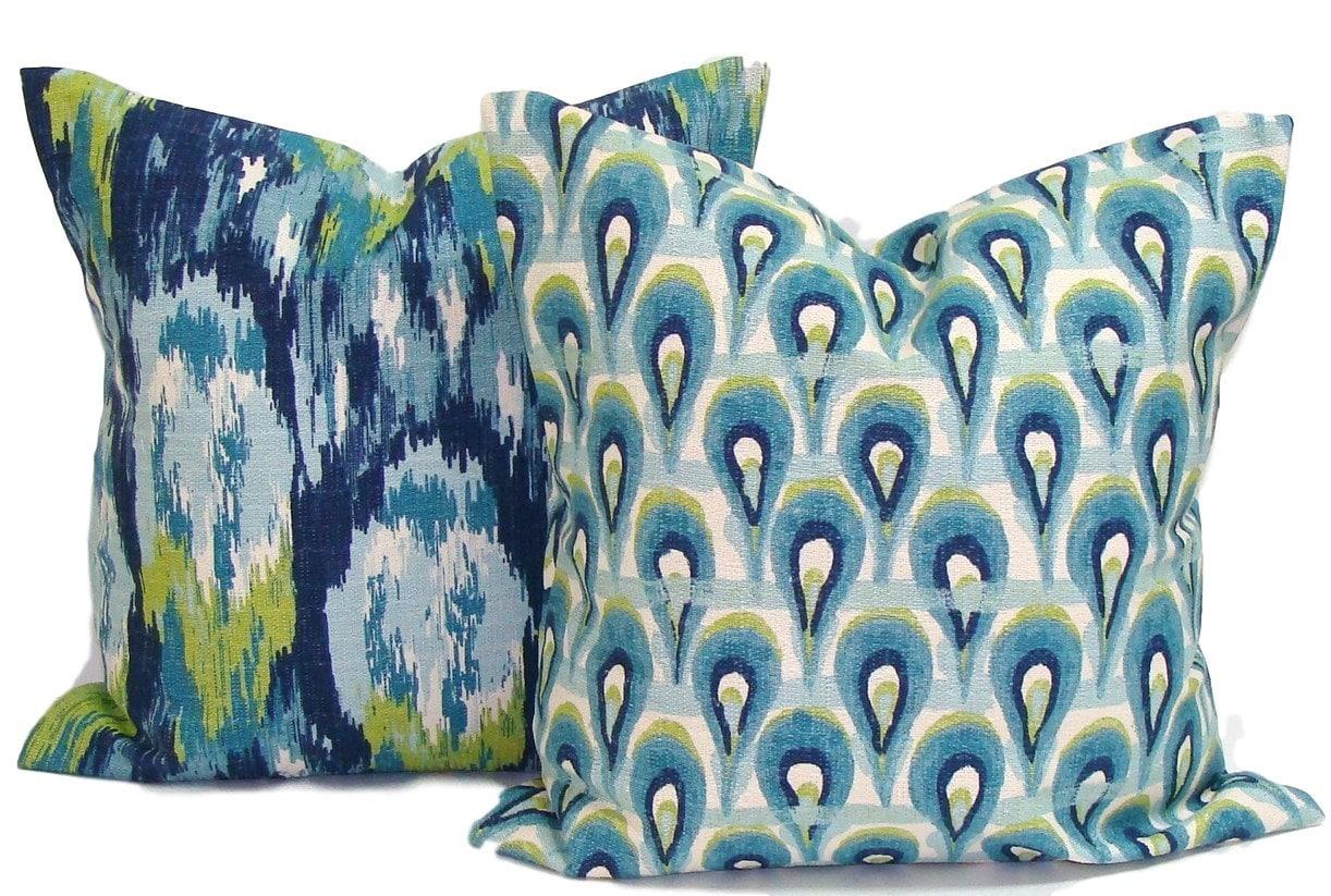 solid blue decorative pillows Google
