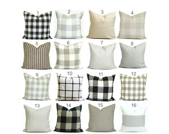 Farmhouse Pillow Covers, Farmhouse Decor, Farmhouse Pillow Cover, Check Pillow Cover