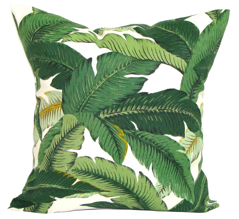 Tommy Bahama Pillow Cover Green Palm Leaves Pillow Tropical image 0