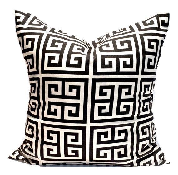Black Throw Pillows Black Tan Pillow Black Pillow COVER | Etsy