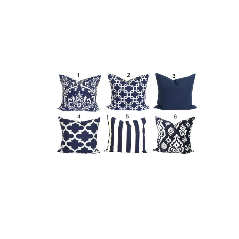 Blue Pillow Covers Blue Throw Pillow Cover Blue Decorative image 0